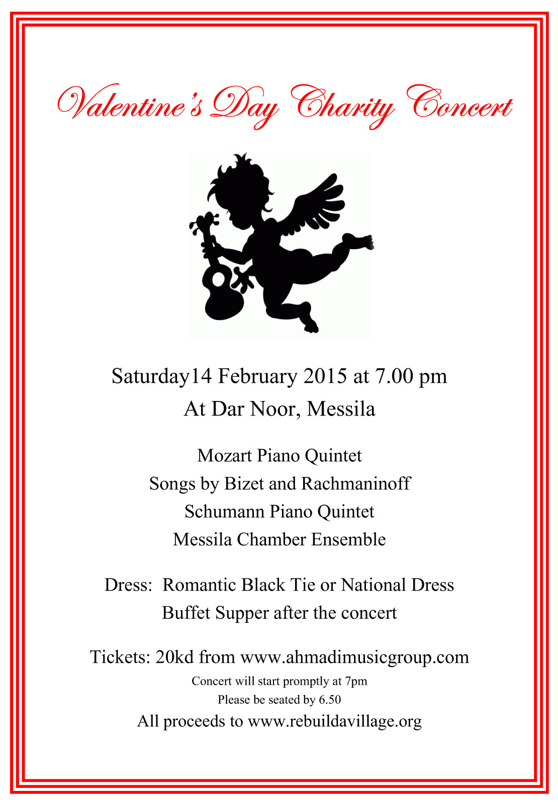 valentines day charity concert invitation - Valentines Day Concert